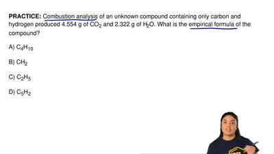 Combustion analysis of an unknown compound containing only carbon and hydrogen...
