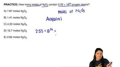 How many moles of N2O3 contain 2.55 × 1024 oxygen atoms?  A) 7.87 moles N2O3  ...