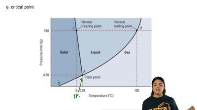 What does letter D represent?  a. fusion curve  b. triple point  c. sublimati...