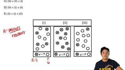 Each of the following diagrams represents a system at equilibrium at three dif...