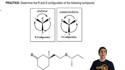 Determine the R and S configuration of the following compound. ...