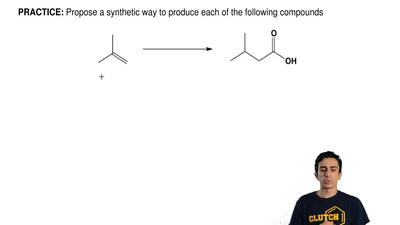 Propose a synthetic way to produce each of the following compounds ...