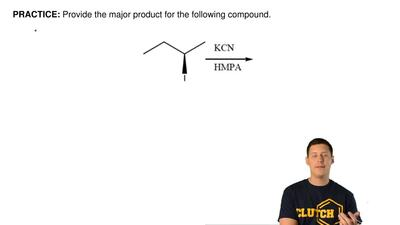 Provide the major product for the following compound.  ...