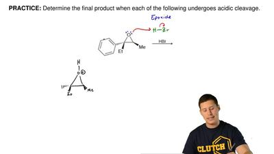 Determine the final product when each of the following undergoes acidic cleava...