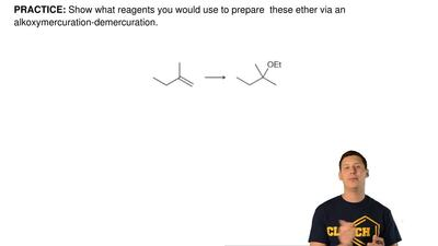 Show what reagents you would use to prepare  these ether via an alkoxymercurat...