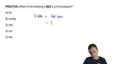 Which of the following is  NOT a unit for pressure?  A) Pa          B) mmHg   ...