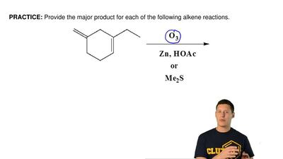 Provide the major product for each of the following alkene reactions.  ...