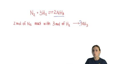 Ammonia can be prepared by the Haber process, shown in this equation.  N2 + 3 ...