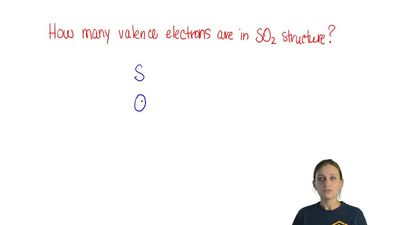 How many valence electrons are represented in the Lewis electron-dot structure...
