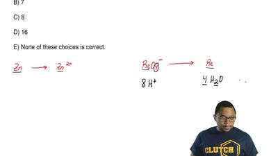 When the following redox equation is balanced with smallest whole-number coeff...