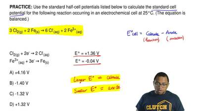 Use the standard half-cell potentials listed below tocalculate the standard c...