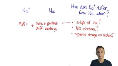 A sodium ion differs from a sodium atom in that the sodium ion  (A) has fewer ...
