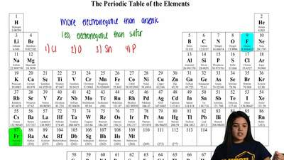Which element is more electronegative than arsenic and less electronegative th...