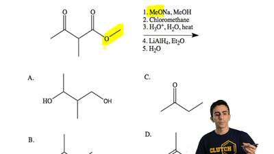 Which is the major product formed for the reaction below?    ...