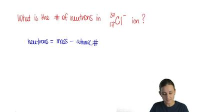 The number of neutrons in the following ion is:   (A) 17  (B) 20  (C) 21  (D) ...