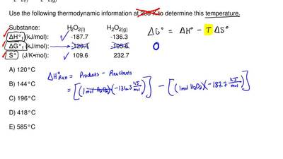 The temperature at which the following process reaches equilibrium at 1.0 atm ...