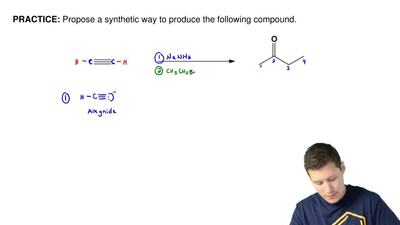 Propose a synthetic way to produce the following compound. ...