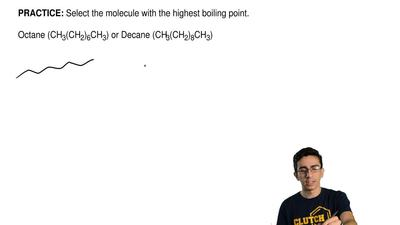 Select the molecule with the highest boiling point.  Octane (CH3(CH2)6CH3) or ...