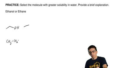 Select the molecule with greater solubility in water. Provide a brief explanat...