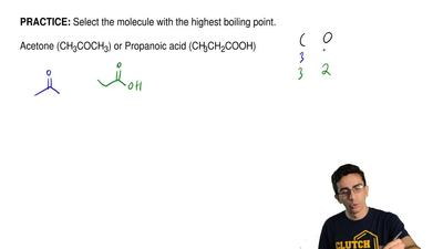 Select the molecule with the highest boiling point.  Acetone (CH3COCH3) or Pro...
