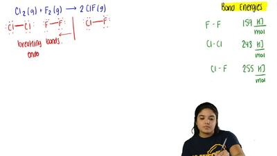 Calculate ΔH° = for the chemical reaction  Cl2 (g) + F2 (g) → 2 ClF (g)  a) -1...
