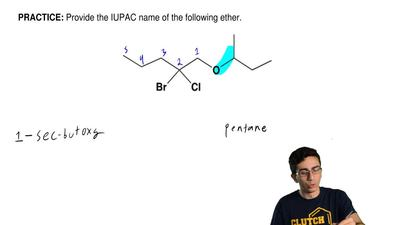 Provide the IUPAC name of the following ether. ...