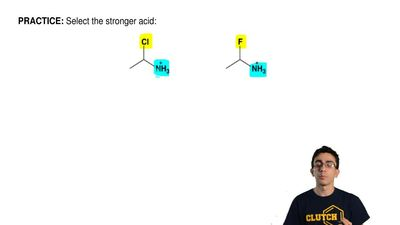 Select the stronger acid:  ...