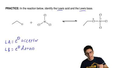 In the reaction below, identify the Lewis acid and the Lewis base.  ...