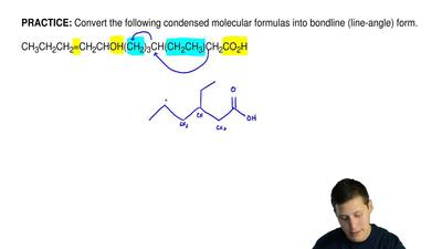 Convert the following condensed molecular formulas into bondline (line-angle) ...