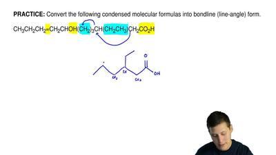 Convert the following condensed molecular formulas into bondline (line-angle) ...
