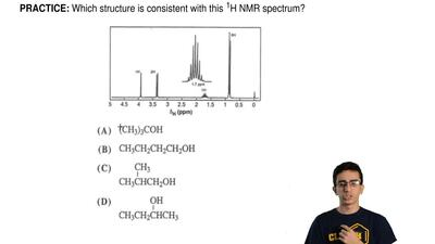 Which structure is consistent with this  1H NMR spectrum? ...