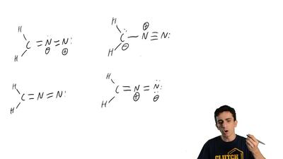 Which is an acceptable Lewis structure for diazomethane? ...