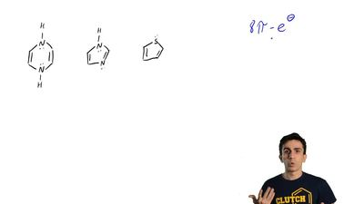 Which of these structures have eight π electrons?  (A) I only (B) II only (C) ...
