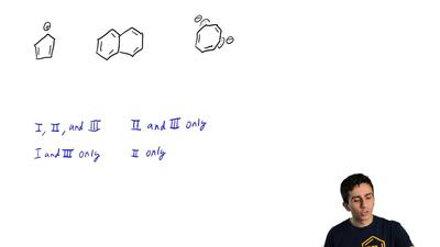 Which of these structures can be classified as aromatic?  (A) I, II and III (B...