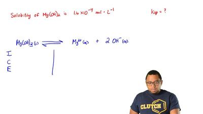 What is the solubility product, Ksp of Mg(OH)2 if its solubility in water is 1...
