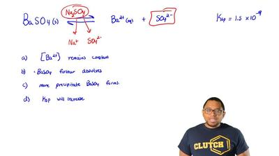 The addition of solid Na2SO4 to an aqueous solution in equilibrium with solid...