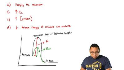 A catalyst increases the rate of a reaction by  (A) changing the mechanism of ...