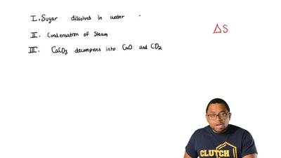 For which of these processes is the value ofΔS expected to be negative?  I. ...