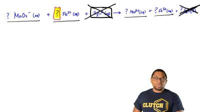 Balance this ionic equation for a redox reaction, using only whole number coef...