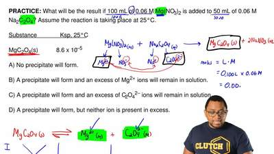 What will be the result if 100 mL of 0.06 M Mg(NO 3)2 is added to 50 mL of 0.0...