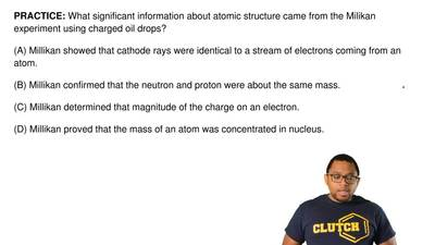 What significant information about atomic structure came from the Milikan expe...