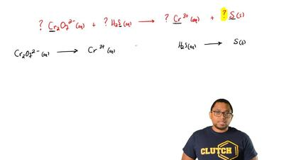 When this oxidation-reduction equation is the balanced in acidic solution, usi...