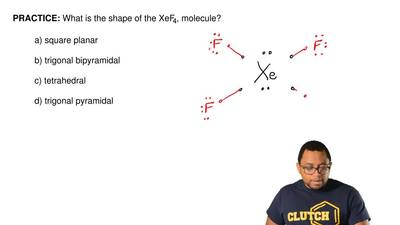 What is the shape of the XeF4, molecule?  a) square planar  b) trigonal bipyra...