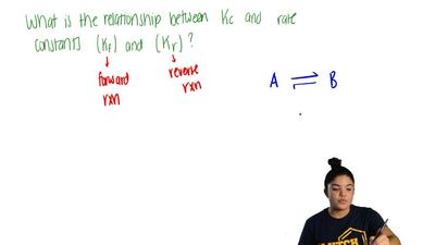 What is the relationship between the equilibrium constant (K c) of a reaction ...