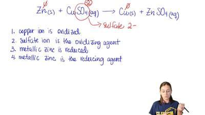 Which statement is true for this reaction?  Zn (s) + CuSO4 (aq)  → Cu (s) + Zn...