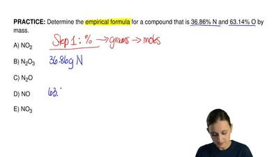 Determine the empirical formula for a compound that is 36.86% N and 63.14% O b...