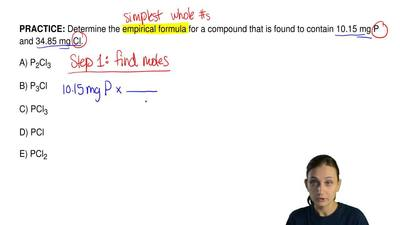 Determine the empirical formula for a compound that is found to contain 10.15 ...