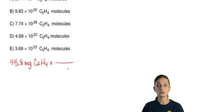 How many  C2H4  molecules are contained in 45.8 mg of  C 2H4 ? The molar mass ...