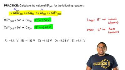Calculate the value of Eocell for the following reaction:  2 Co3+(aq) + 3 Ca(...