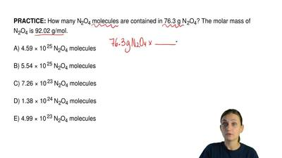 How many N2O4 molecules are contained in 76.3 g N 2O4? The molar mass of N2O4 ...
